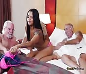 Naked Teen Gets Fondled By Old Men