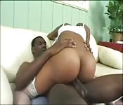 Ebony Babe Likes Cock in her Pussy