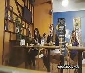 Coffee shop blowjob