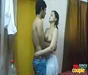 Indian pair in amateur soft core movie