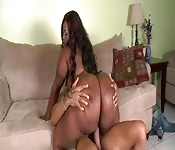 Big-assed ebony BBW boned by her neighbor