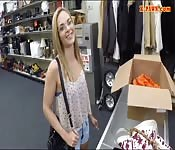 Small tits blondie railed by pawn dude
