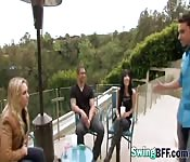 Bisexual babes loves swapping partners