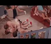 Verrückte Orgie im Haus