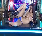 Striptease en live