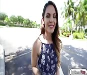Brunette babe Rayna Rose fuck in public