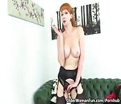 Redhead British babe gets banged