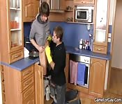 Cute male plumber fucked by a man