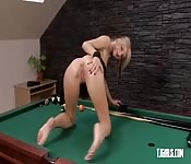Cute Babe Loves Stretching Her Pink Clit