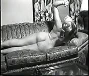 Porn star shimmers in black and white video