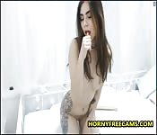 Cute Teen Enjoys Hot Morning Masturbation