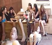 Group of Women Humiliate Man