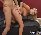 Blonde's Tits Bounce as she is Banged
