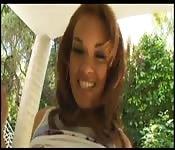 Horny brunette latina