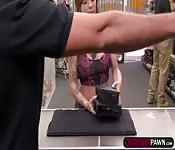 Harlow Harrison fucks in the pawnshop