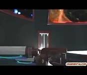 3d animation sixty nine style slammed sucking cock