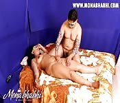 Erotic massage fun for Indian couple