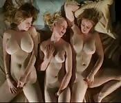 Intense lesbian threesome