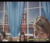 Russian Lesbian Licks Her GFs Jizzed Pussy