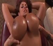 Eva Notty bekommt eine Massage
