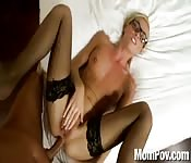 Amazing anal with glasses MILF