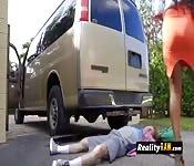 The car incident porn