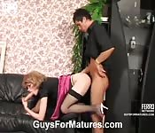Mature maven is a merry fuck buddy for a young fella