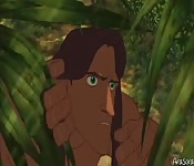 Tarzan , the king of the forest