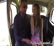 Pretty hitchhiker Stella Cox van fuck