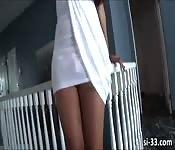 Caucasian TS hottie Sunshyne Monroe solo