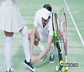 Big tit tennis instructor wants anal