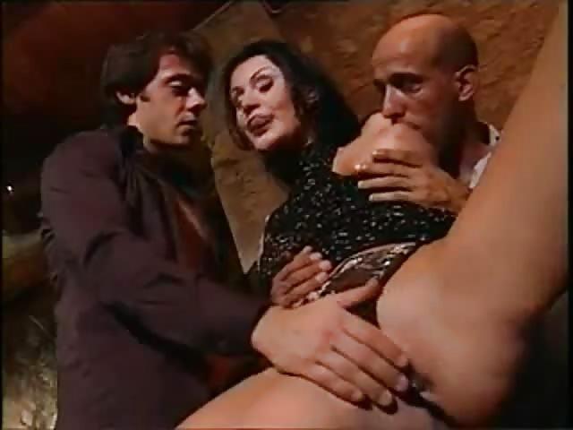 Italian Brunette Seducing Guy And Rides His Cock