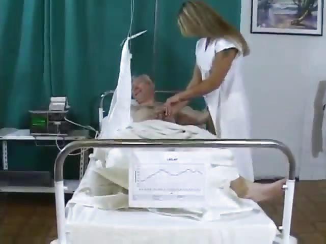 Anciano enfermera sexo