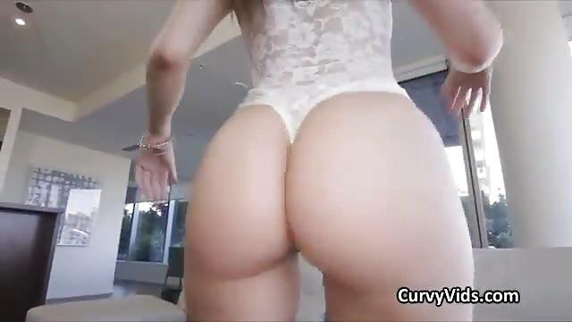 Big Black Ass Rides White Cock